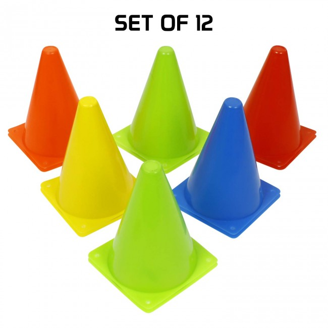 FITSY® Agility Space Marker Cones - 7 Inch - 12 pcs