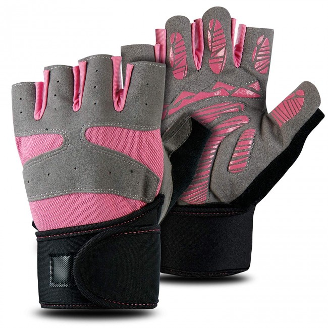 FITSY® Gym Gloves with Wrist Support for Women - Large