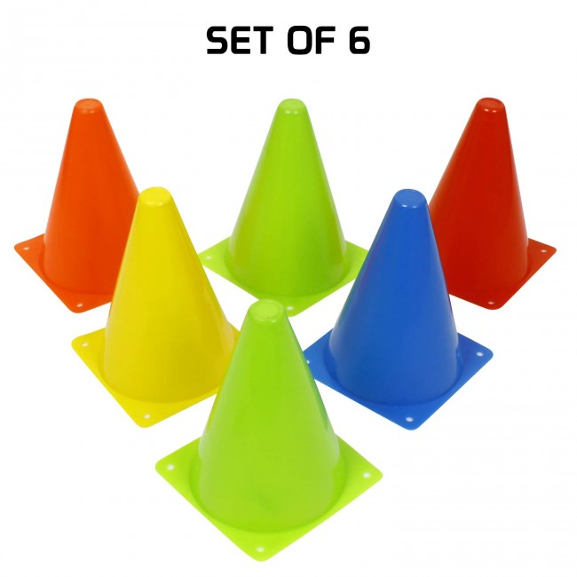 FITSY® Agility Space Marker Cones - 7 Inch - 6 pcs