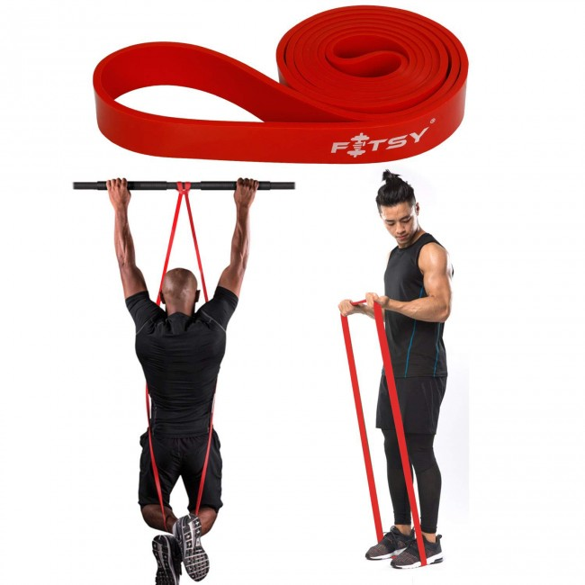 FITSY® Resistance Exercise Loop  Band | Pull Up Band 41 Inches - Red Color