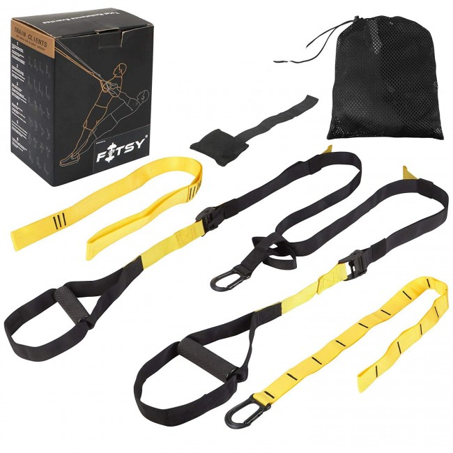FITSY Suspension Trainer Kit for Resistance Fitness Training