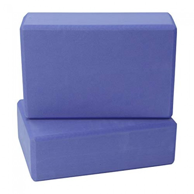 FITSY High Density Yoga Block Brick Made of Foam: Set of 2 - Voilet Color