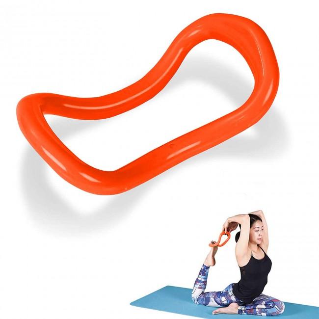 FITSY Yoga Circle Stretch Ring, Size - 23 x 12 cm, Orange Colour
