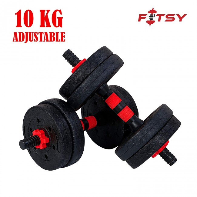 FITSY® Adjustable Dumbbell Set - 10 kg