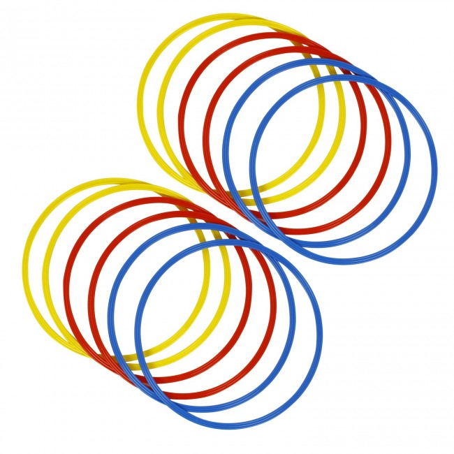 FITSY® Agility Rings Set for Sports, Fitness, Gymnastic - Pack of 12