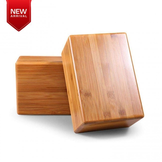FITSY® Wooden Yoga Block Brick - Pack of 2