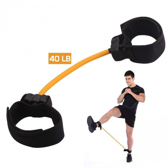 FITSY Leg Strength Resistance Band - Orange - 40LB
