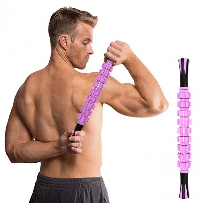 FITSY® Trigger Point Massage Roller Stick - Purple