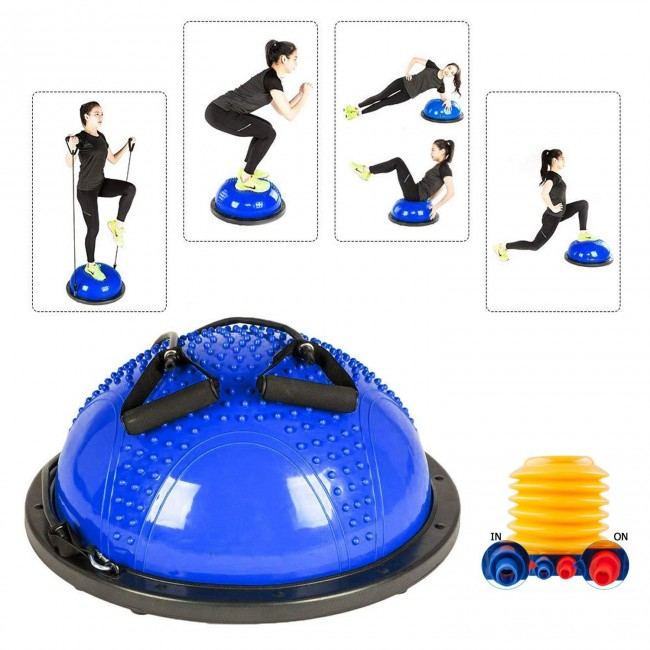 FITSY® Stability Exercise Ball with Resistance Bands - Blue