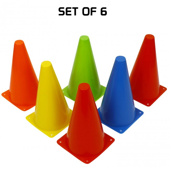 FITSY® Agility Space Marker Cones - 9 Inch - 6 pcs