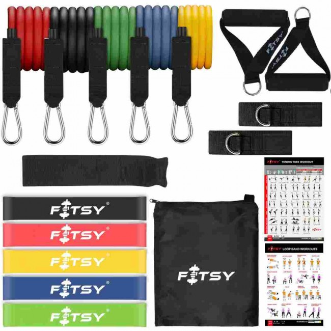 FITSY 18PCS Resistance Bands Set for Exercise