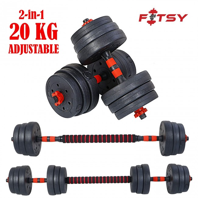 FITSY® Adjustable Dumbbell Set - 20 kg