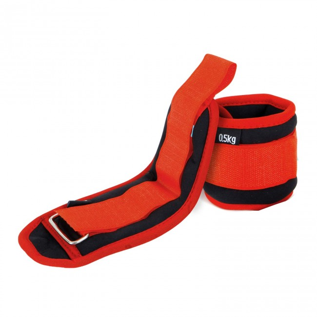 FITSY Adjustable Ankle Weights | Strength Training Weight Sets - 0.5 KG X 2