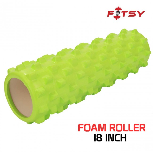 FITSY Yoga Foam Muscle Roller for Deep Tissue Self-Massage - 18 INCH