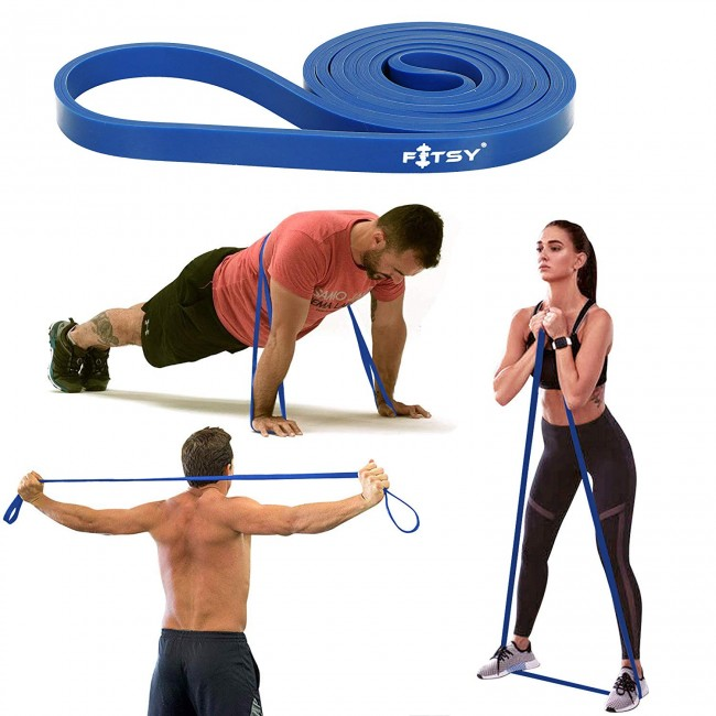 FITSY® Resistance Stretch Band - Loops | Stretch Band 41 Inches - Blue Color