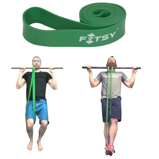 FITSY® Resistance Exercise Loop Band | Pull Up Band 41 Inches - Green Color