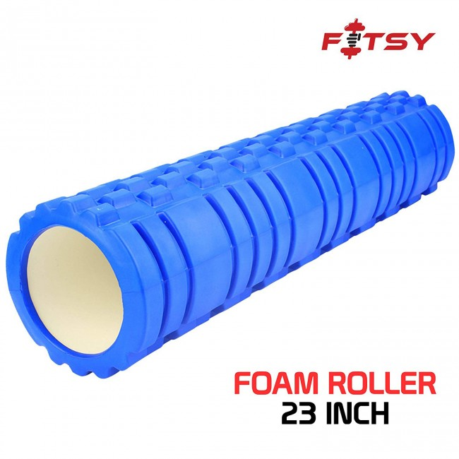 FITSY Yoga Foam Muscle Roller for Deep Tissue Self-Massage - 23 INCH