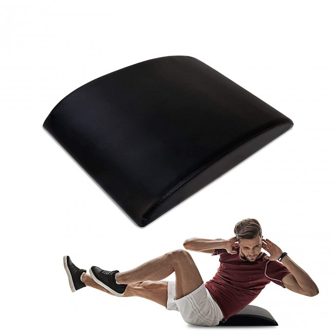 FITSY Abdominal Sit Up Pad with Lower Back Support - Black