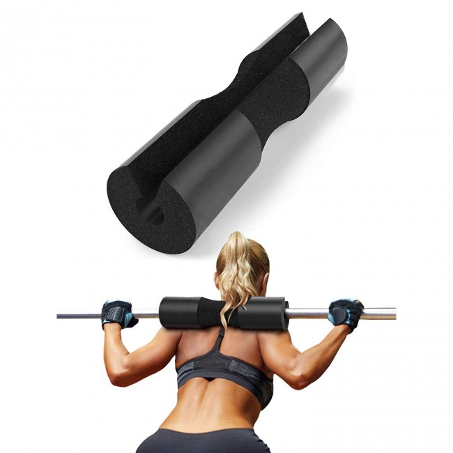 FITSY® Barbell Squat Pad suitable for Standard and Olympic Bar - Black Color