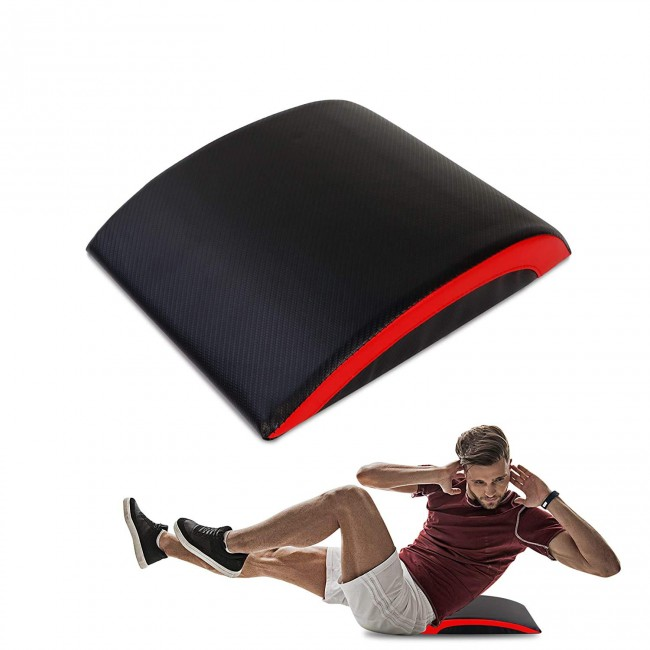 FITSY Abdominal Sit Up Pad with Lower Back Support - Red