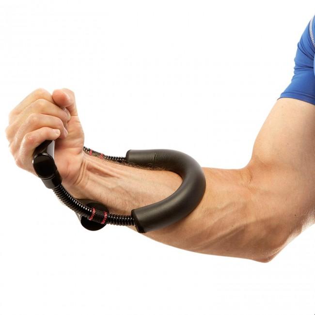 FITSY Adjustable Wrist Exerciser for Forearm Strengthening - Black