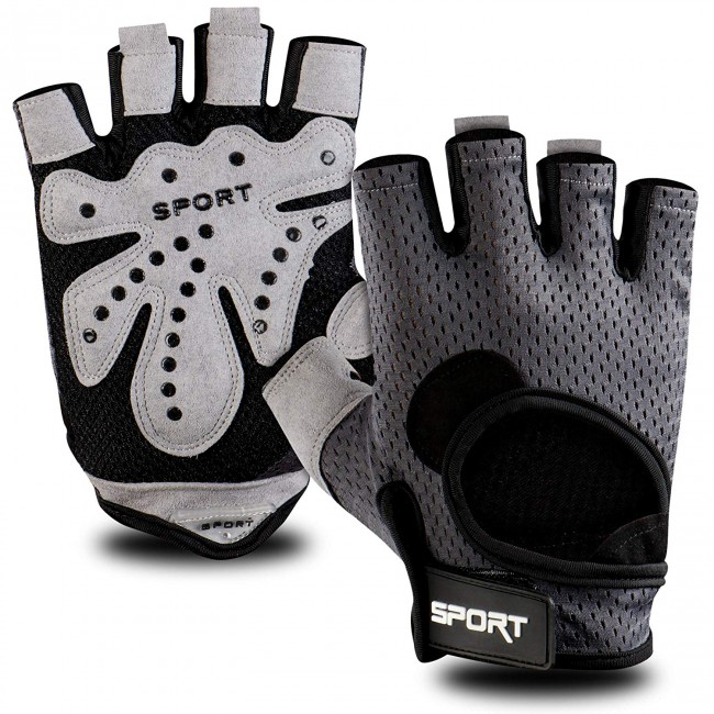 FITSY® Gym Gloves with Padding for Men and Women - Medium