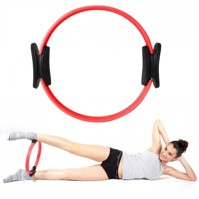 FITSY Yoga Exercise Ring Magic Circle - Red Color