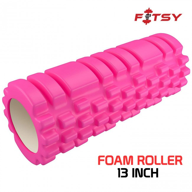 FITSY Yoga Foam Muscle Roller for Deep Tissue Self-Massage - 13 INCH