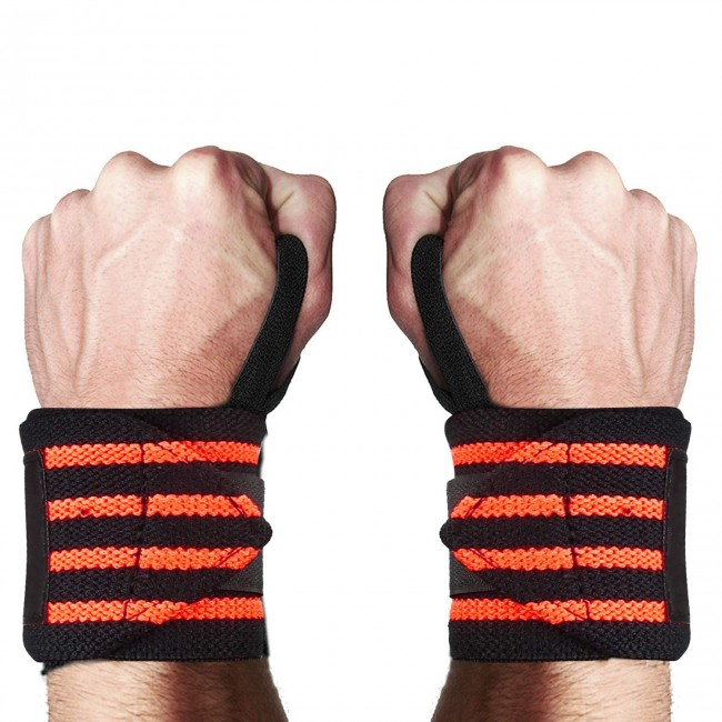 FITSY® Adjustable Wrist Band Thumb Loop, 1 Pair - Orange