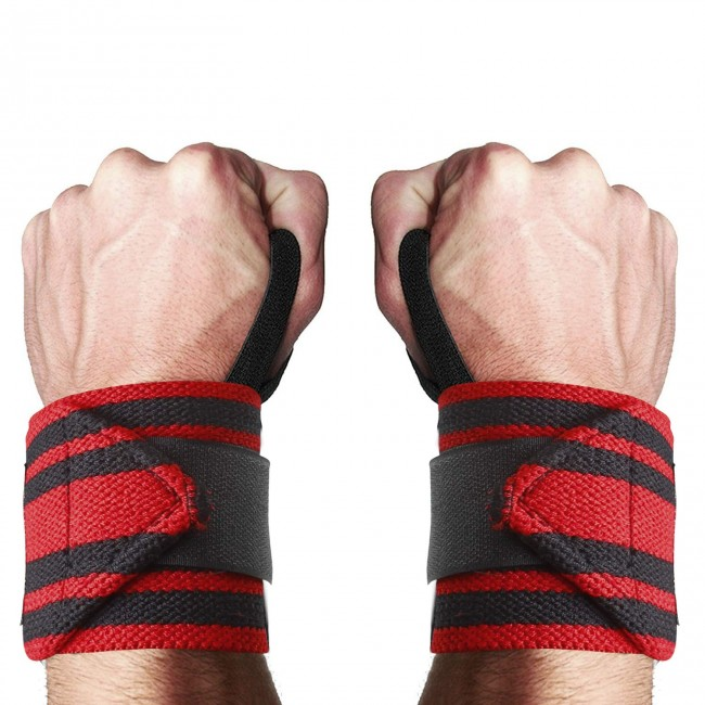FITSY® Adjustable Wrist Band Thumb Loop, 1 Pair - Red
